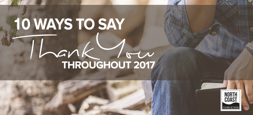 10 Ways to Say Thank You Throughout 2016